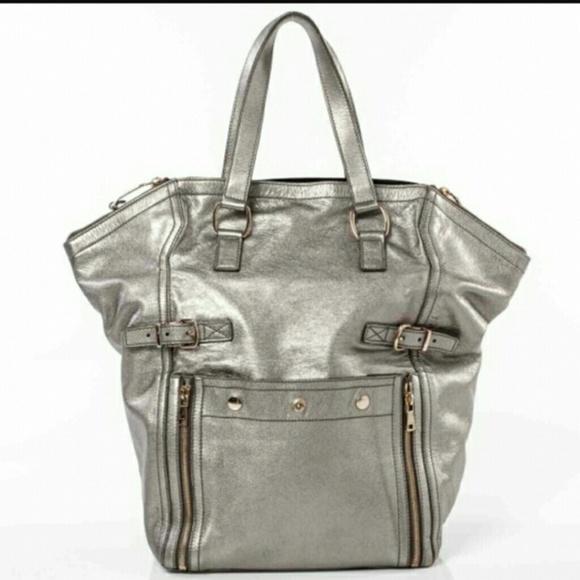 EUC YSL Large Downtown Silver Tote. M 5c1ac04ebaebf6f324681403. Other Bags  ... c7b4f82b99f21